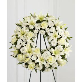Sympathy and funeral flowers tampa fl florist 56th street florist treasured tribute wreath in tampa fl 56th street florist solutioingenieria Choice Image