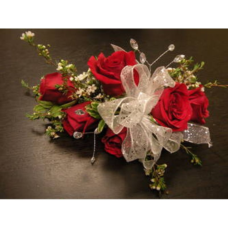 red rose wrist corsage a floral affair local florist edinboro pa