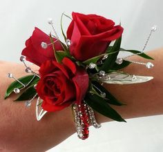 Red Corsages for Prom 2018 Dress