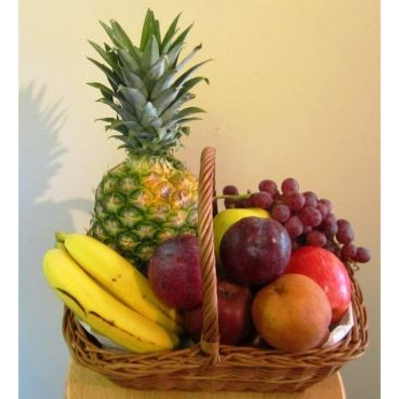 Albie S Classic Pineapple Fruit Basket Albiesfloral Niles