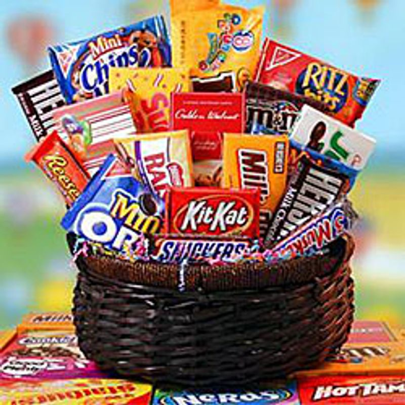 Candy and Cookies Basket Spring Florist - Flowers in ...
