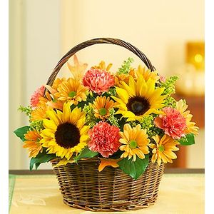 Sympathy and funeral sprays and baskets spring florist flowers in fabulous fall basket in spring tx always floral mightylinksfo