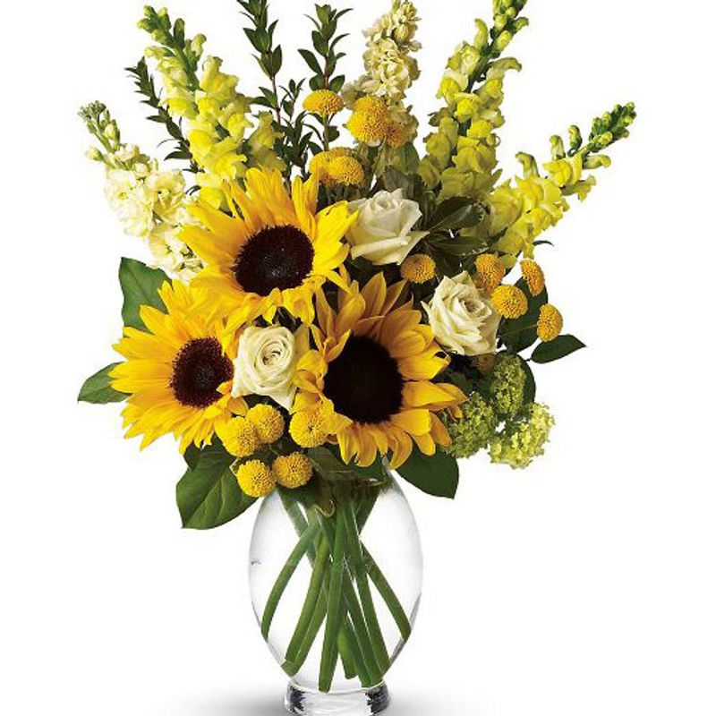 Here comes the sun bouquet spring florist flowers in spring tx more views mightylinksfo