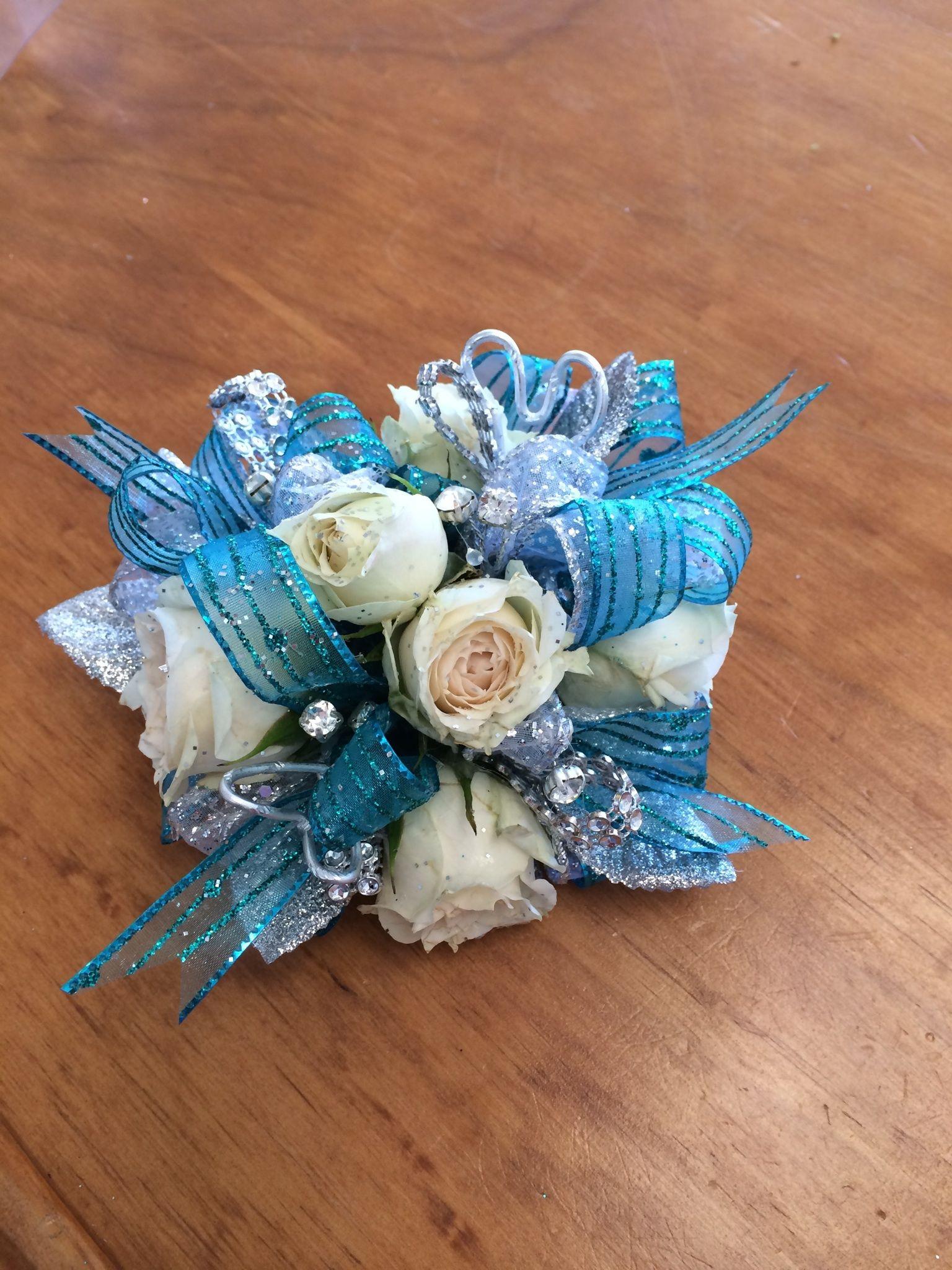 Klein High School White Rose Wrist Corsage Spring Florist Flowers