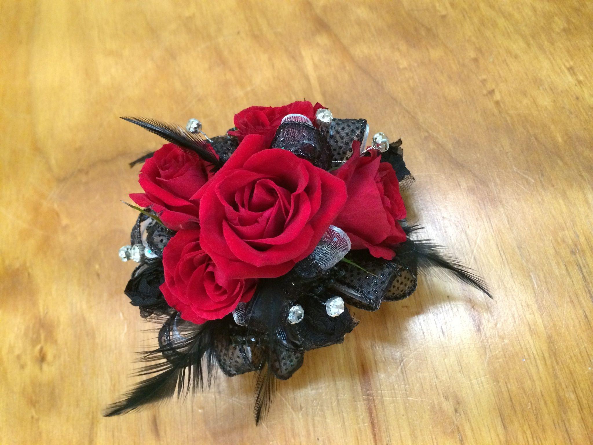 Klein High School Red Rose Wrist Corsage Spring Florist Flowers In