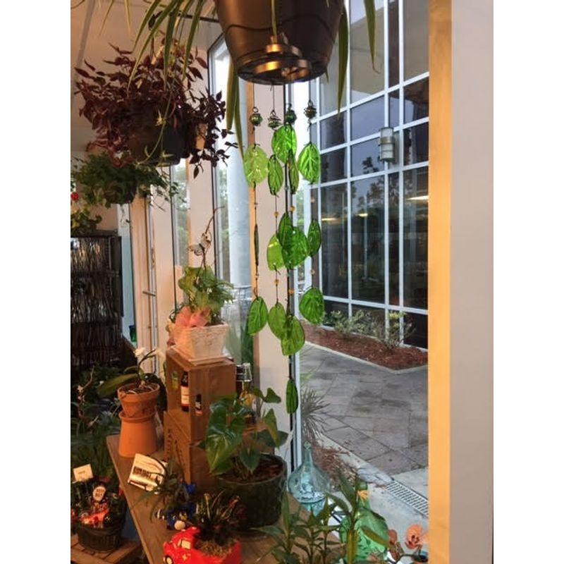 Glass Wind Chime ART among the FLOWERS, Palm Coast Florist FREE Same