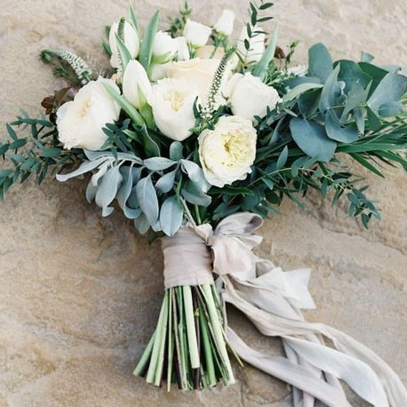 b5ab7a5cb0 Hand-tied Wedding Bouquet ART among the FLOWERS, Palm Coast Florist ...