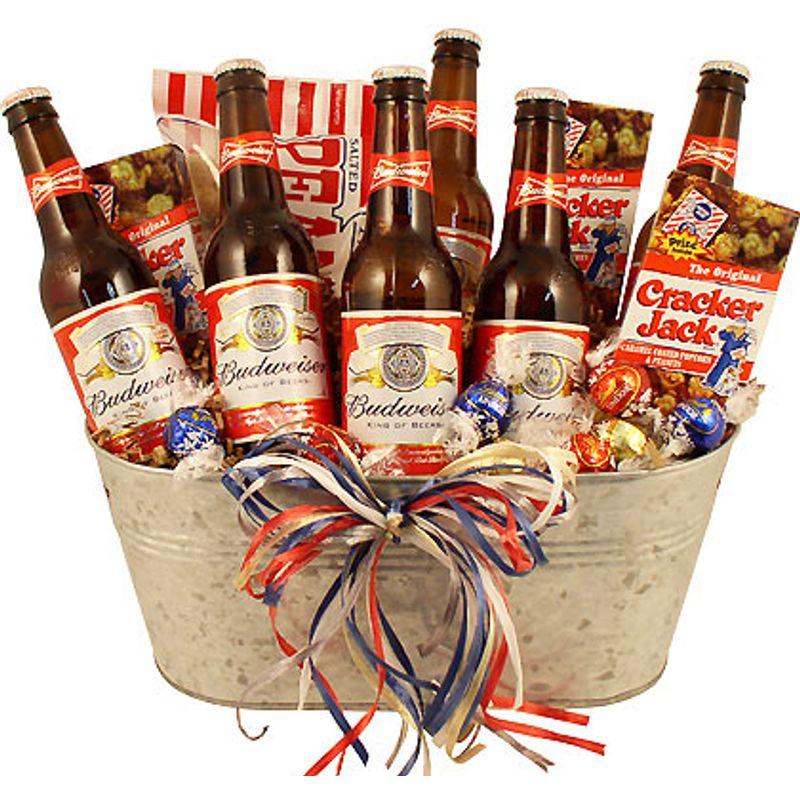 Budweiser Cracker Jack Gift Basket Art Among The Flowers Palm