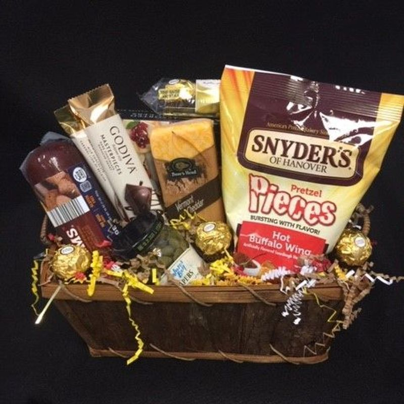 Sausage and Cheese Gift Basket ART
