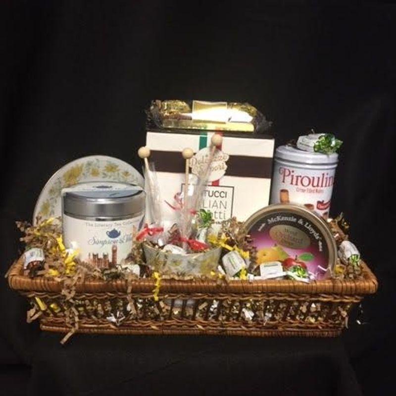 Gourmet Tea Gift Basket ART among the FLOWERS, Palm Coast ...