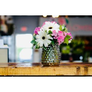 Lavender Roses and White Gerbera Daisies in Bakersfield CA, Flower Bar