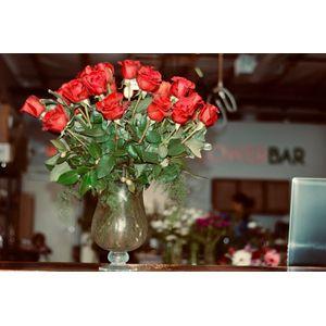 2 Dozen Red Roses in Bakersfield CA, Flower Bar