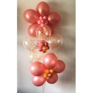 Rose Gold And Confetti Daisy Bouquet In Charlotte NC Balloon Party Service