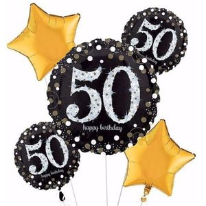 Happy 50th Birthday Star Bouquet In Charlotte NC Balloon And Party Service