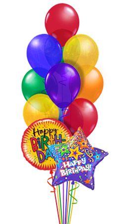 happy birthday balloon bouquet classic balloonscharlotte com rh balloonscharlotteshop com Birthday Balloons Clip Art Bubbles Clip Art Transparent Background