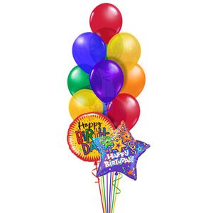 Happy Birthday Balloon Bouquet Classic In Charlotte NC And Party Service