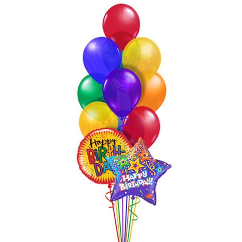Happy Birthday Balloon Bouquet Classic Balloonscharlotte