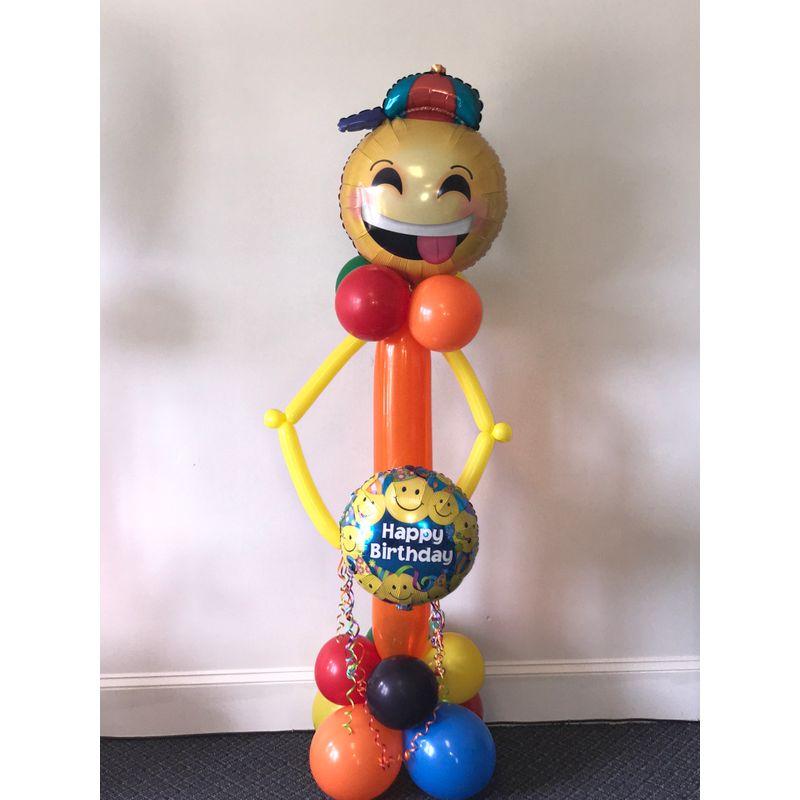 Happy Birthday Balloon Emoji Man Good For Any Occasion