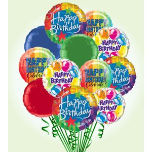 Happy Birthday Balloon Bouquet Deluxe In Charlotte NC And Party Service