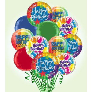 Happy Birthday Balloon Bouquet Deluxe And Party Service