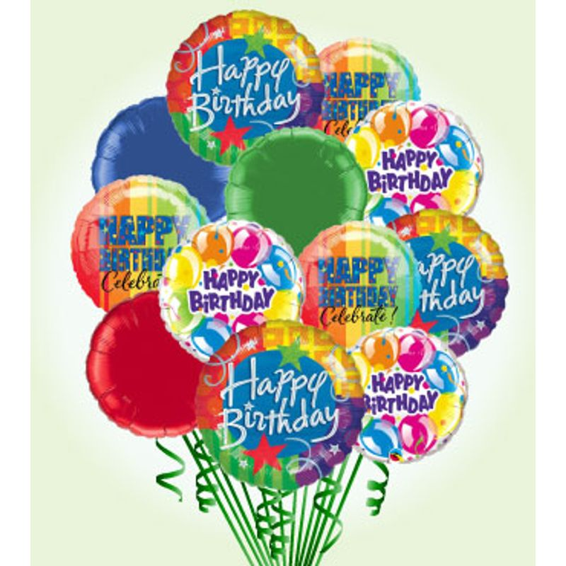 Happy Birthday Balloon Bouquet Deluxe Balloonscharlotte