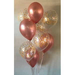 Rose Gold And Confetti Bouquet In Charlotte NC Balloon Party Service