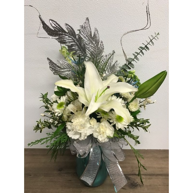Dreaming of a white christmas bismarck nd florist rustic petals more views mightylinksfo