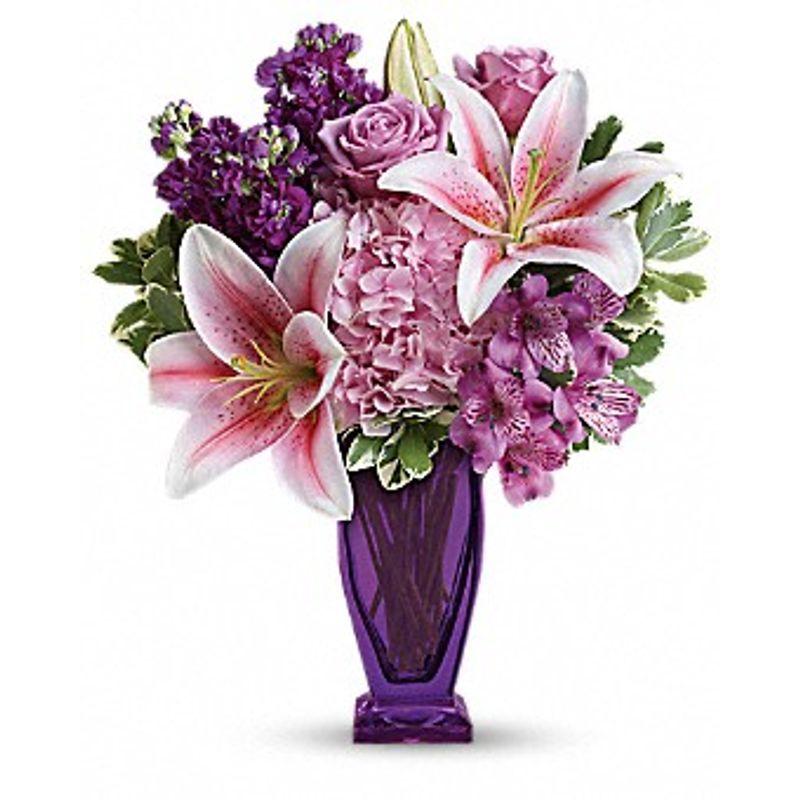 Teleflora's Blushing Violet Bouquet Bismarck, ND Florist