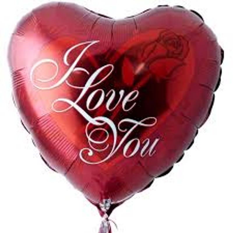 I Love You Mylar Balloon Bismarck Nd Florist Rustic Petals