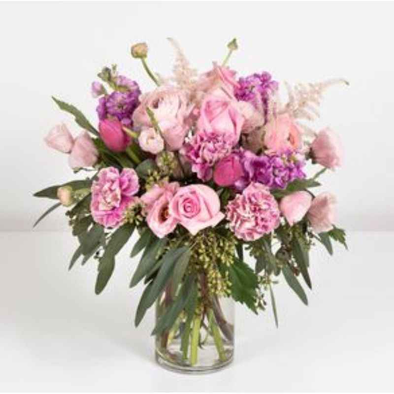 Warm Pink Houston Florist Bloom Box Local Flower