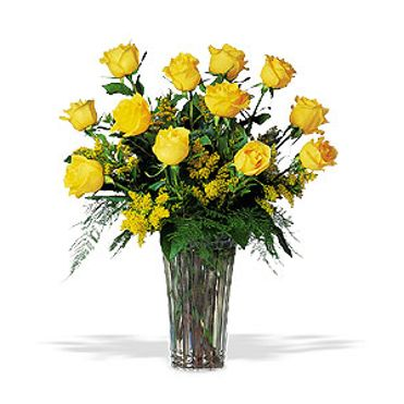 Dozen Yellow Roses Denton Tx Flower Shop Bloomfield Floral In