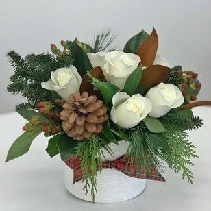 Winter Roses Pine Bouquet