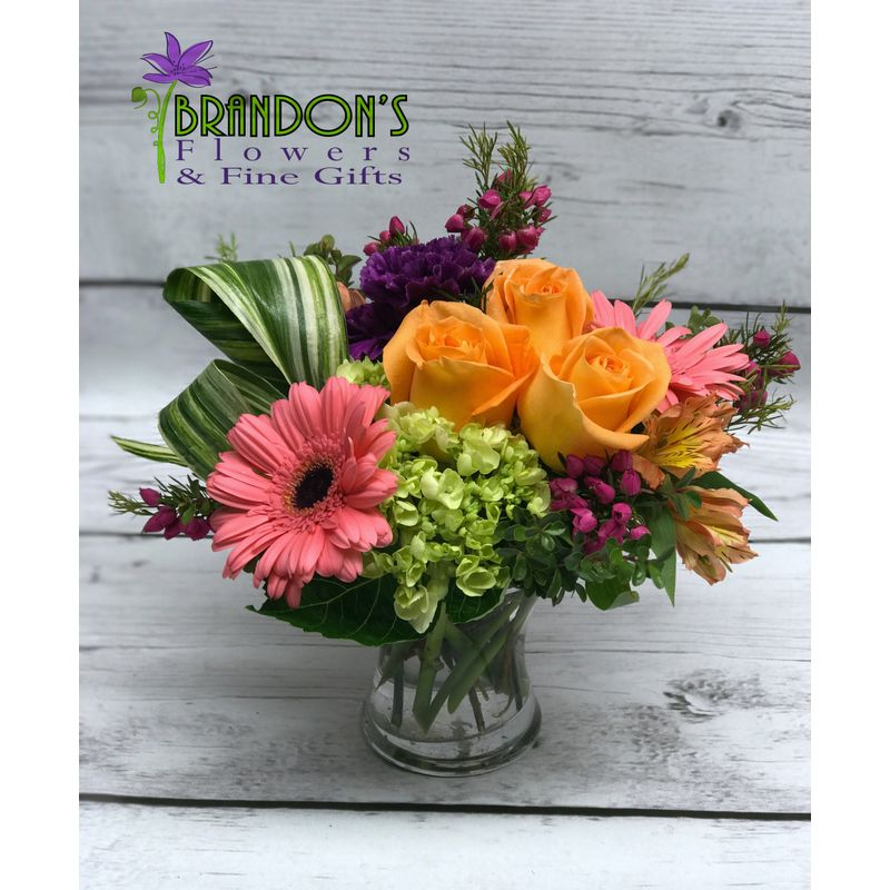 Small Vase Of Mixed Spring Flowers Pampa Tx Florist Brandon S Flowers