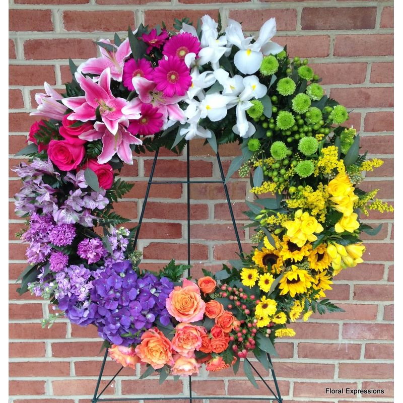 Rainbow Wreath Only Owings Maryland Florist Floral