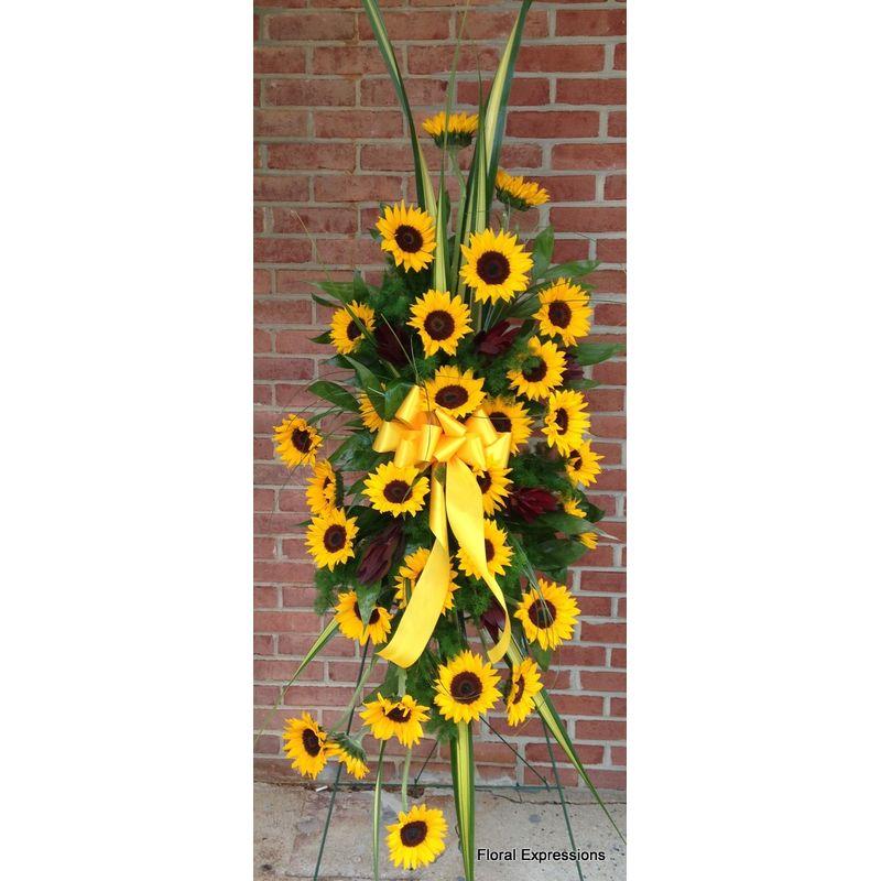 Sunflower Lovers Standing Spray Owings Maryland Florist