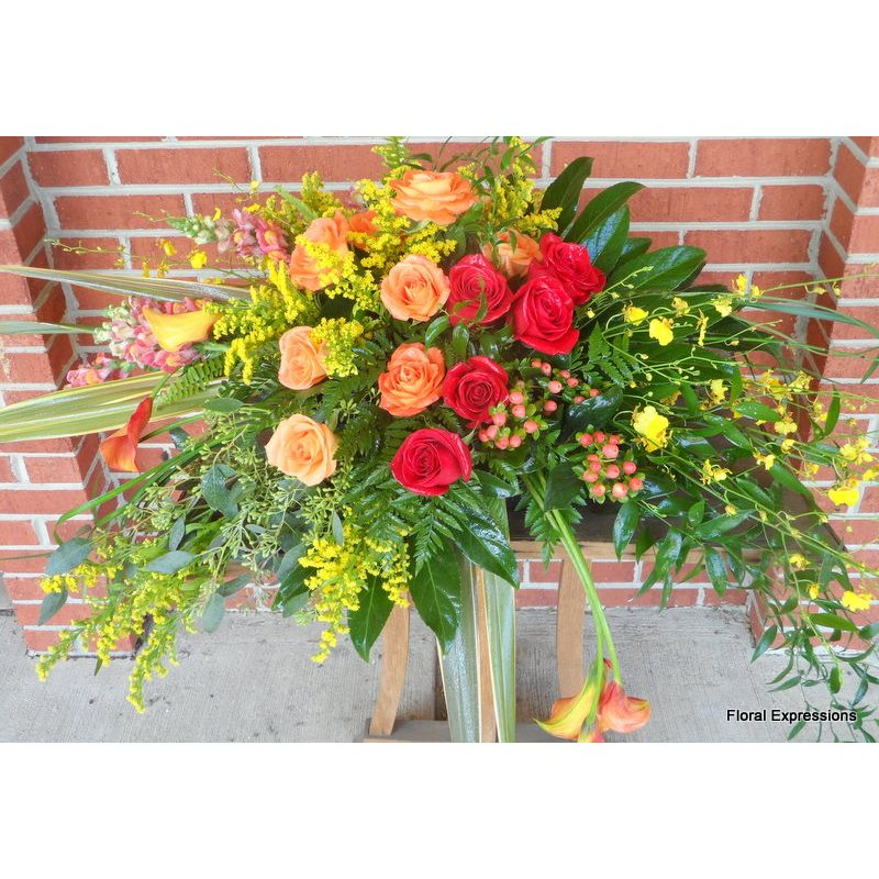 Tropical Glory Casket Spray Only Owings Maryland Florist