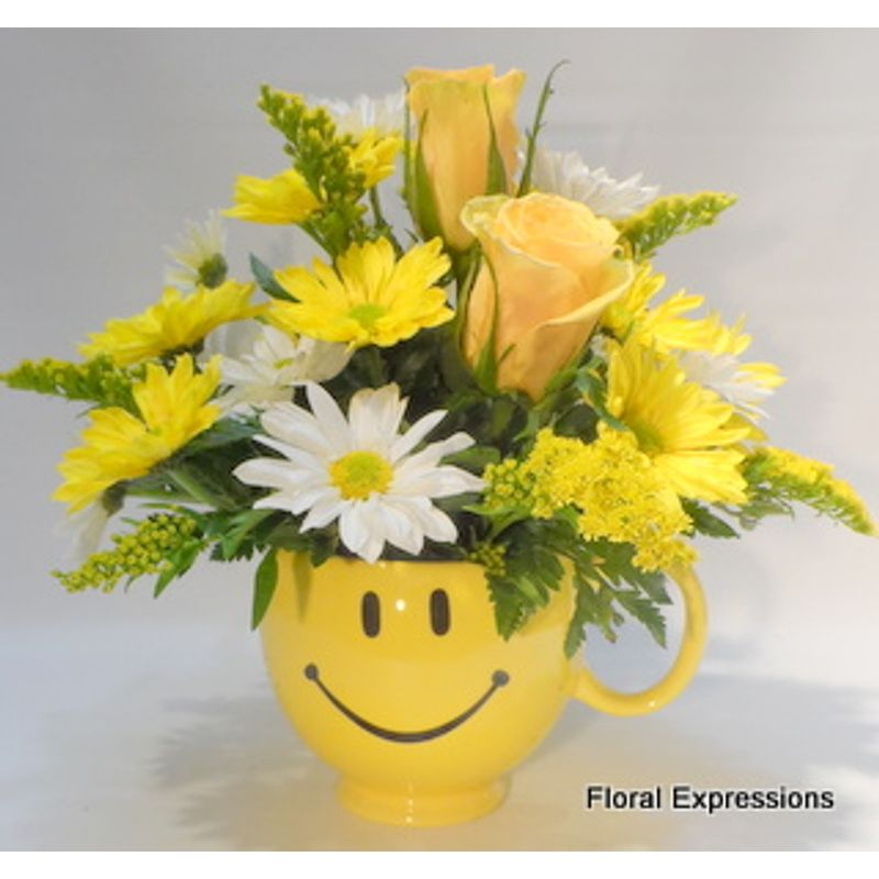 Be Happy Bouquet Owings Maryland Florist,Floral Expressions -Proudly ...