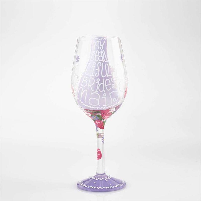 beautful bridesmaid wine glass fort mcmurray ab florist caribou