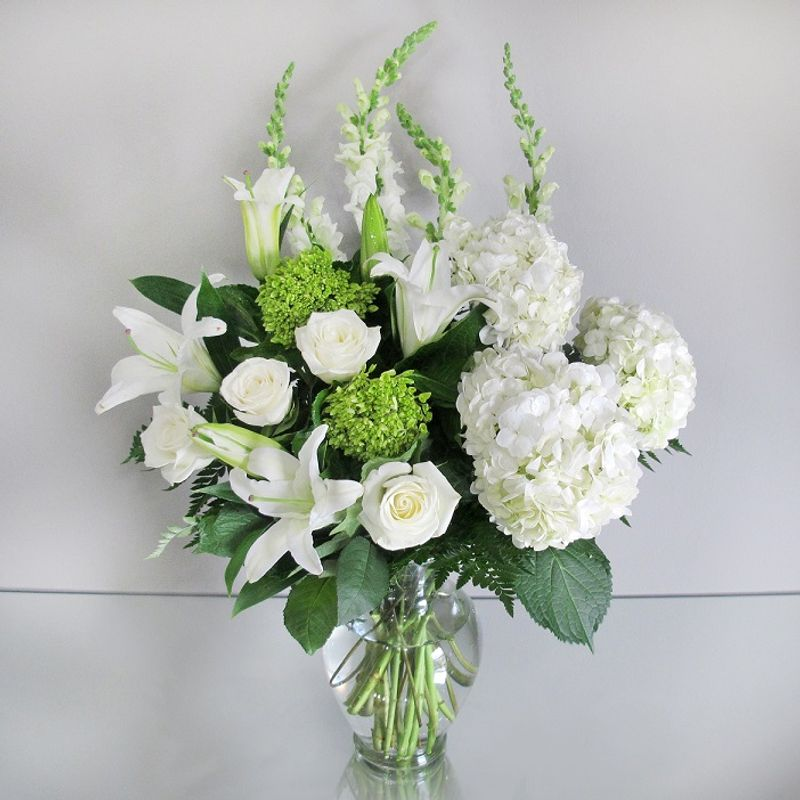 Peaceful white lily bouquet voted best of the best in the south more views mightylinksfo