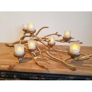 Gold Branch Candle Holder