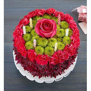 BN Birthday Wishes Flower Cake Purple Corona CA Shop