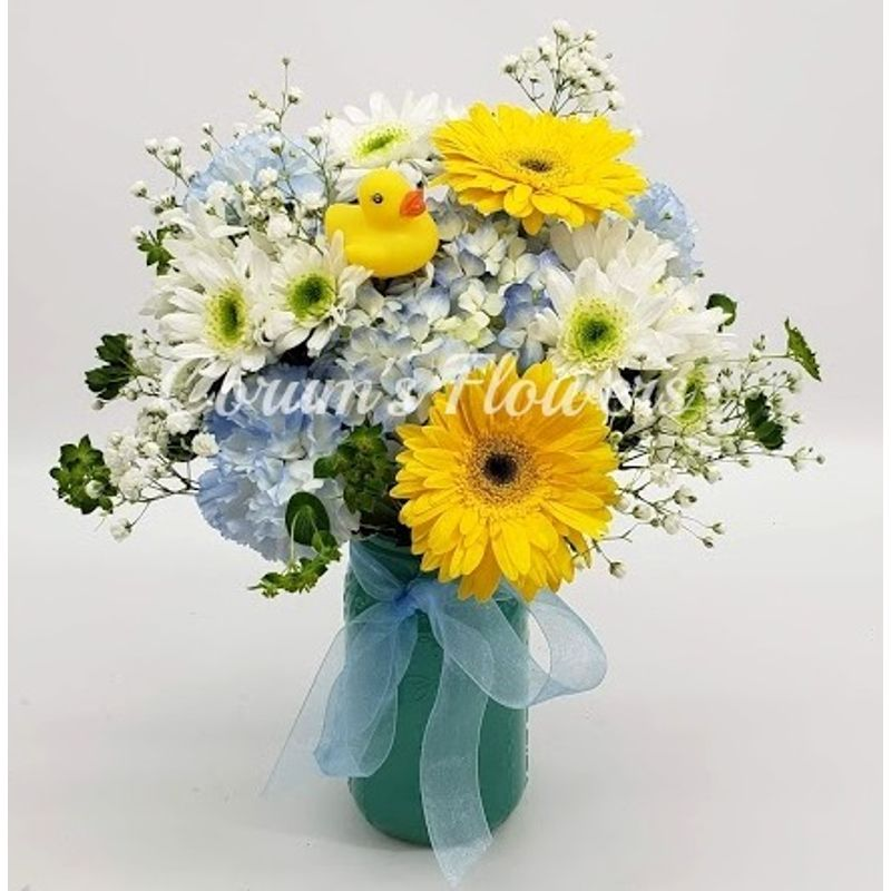 Welcome Baby Boy Bouquet Corum\'s Flowers & Gifts, serving Council ...