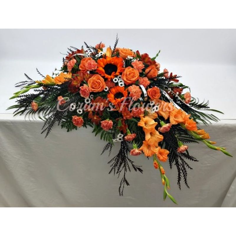 Harley Davidson Colors Casket Spray Corum S Flowers