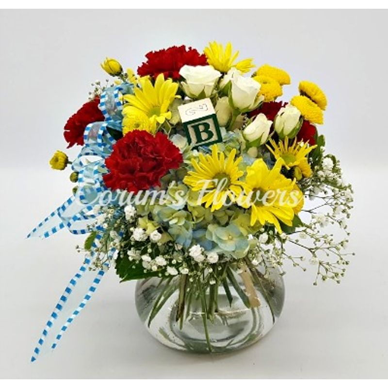 Welcome Baby Vase Corums Flowers Gifts Serving Council Bluffs