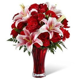 crown florals perfect impressions bouquet - Red Christmas Flowers