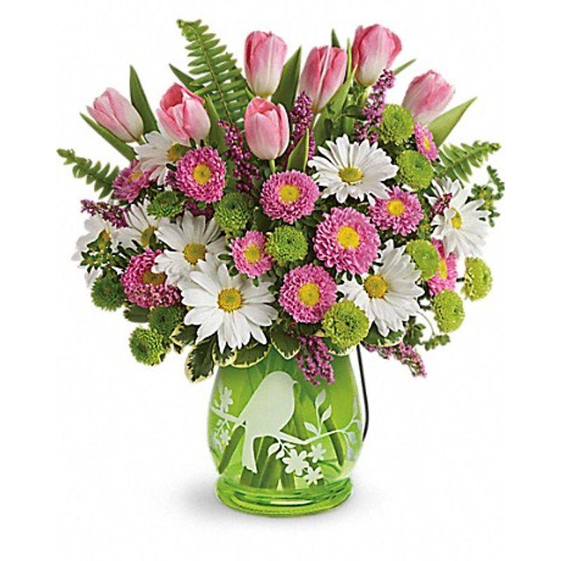 Song of spring arrangement crown florals parkersburg wv 26101 more views mightylinksfo