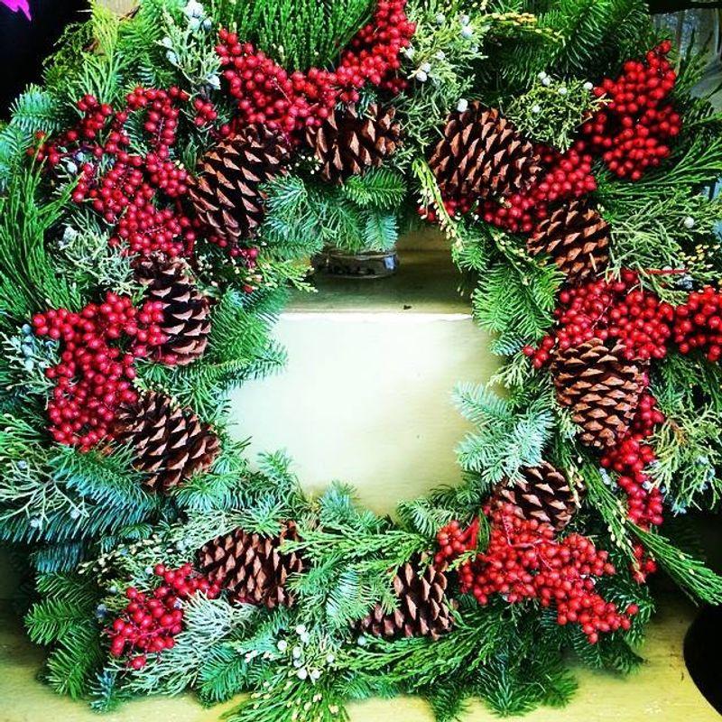 more views - Beach Christmas Wreath