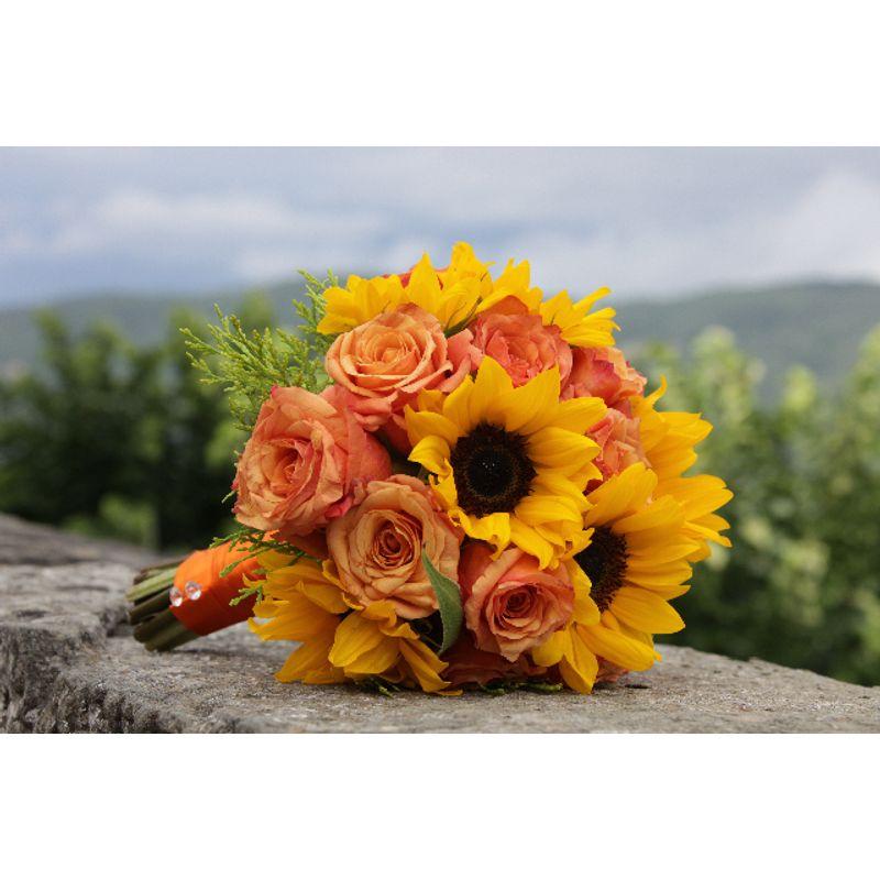 Sunflower Wedding Bouquet Ideas: Sunflower Bridal Bouquet Deltona, Orange City, Debary