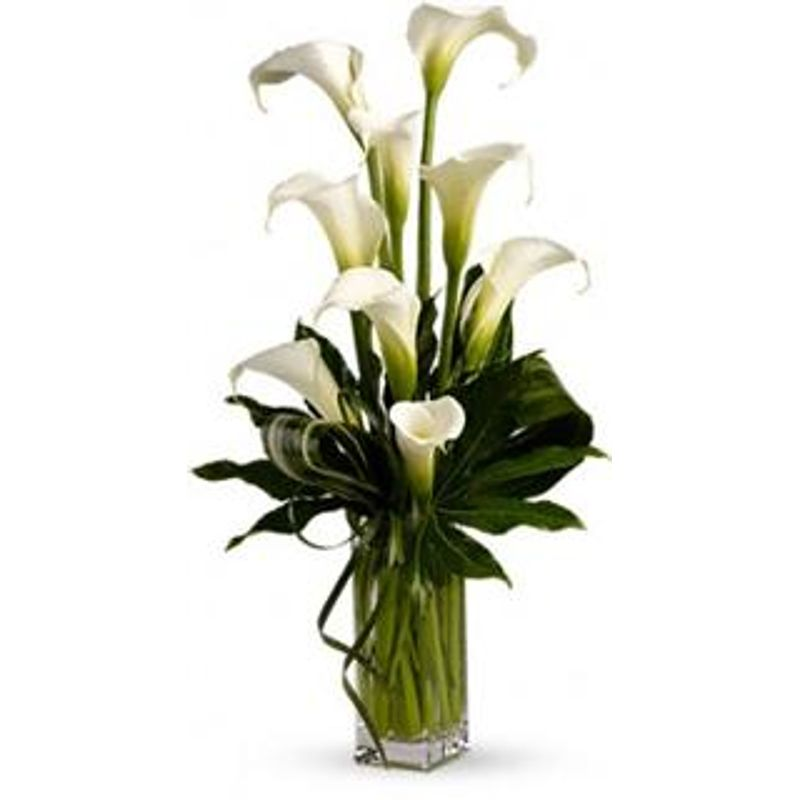 White Calla Lily Bouquet Design House Of Flowers In Buford Ga