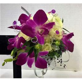 Purple Orchid Corsage.